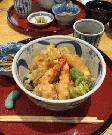 宮島で食べる天丼